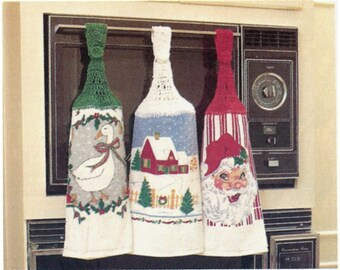 Pattern For Crocheted Kitchen Towel Top - PDF Pattern Download - Instructions And Pattern