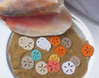Sand Dollars • Sand Dollar Cut Outs • Sand Dollar Confetti • Any color for decorating tables, Scrapbooking, Party Decor, etc. (25 per order)