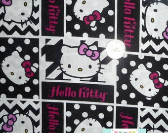 SALE, Creative Springs, Hello Kitty Geometric Face Patch, 1 yard