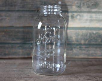 Kerr Self-Sealing half gallon Mason jar