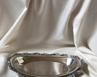 Antique Serving Bread Tray Silverplated