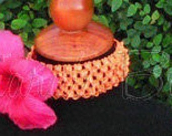 Pink and Orange Girls Headband Photo Prop - Hot Pink Hibiscus Flower on Orange Headband - Made to Match Hawaiian Hula Tutu