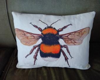 Oblong Bumble Bee cushion