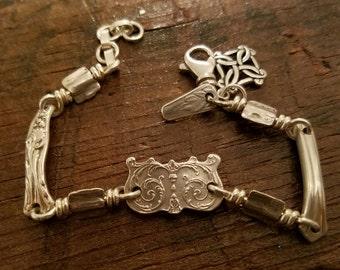 Vintage Sterling Silver 'Dainty Crown' Bracelet - Re-Designed Antique and Vintage Sterling Silverware: One-of-a-Kind