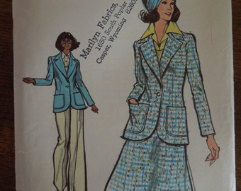 Vogue 8547, size 18, misses, womens, UNCUT sewing pattern, craft supplies, unlined jacket, skirt and pants