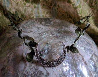 Elven Crown - Woodland Tiara - Goddess Headpiece - Moon Circlet - Handfasting Circlet