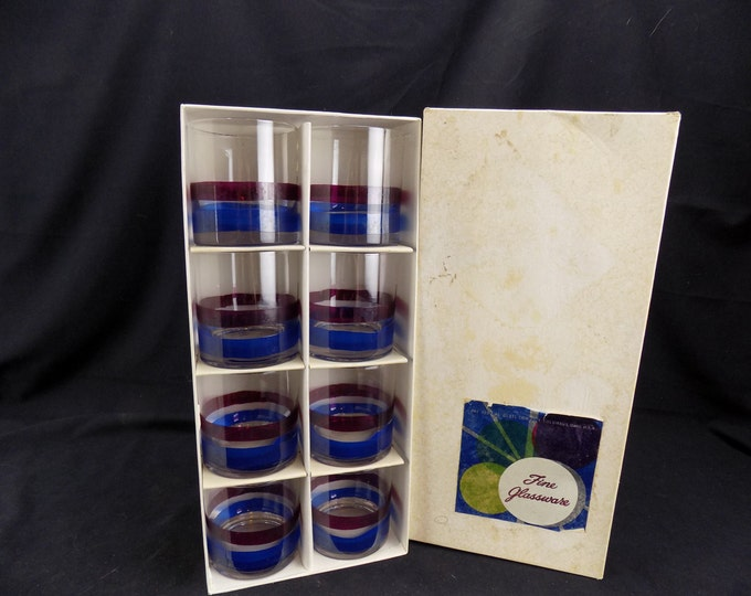 Full Box Vintage Federal Glass 10 Oz. Rocks Glasses-Barware