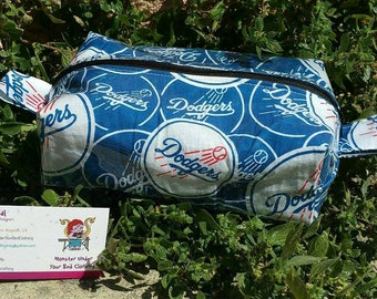 Dodgers box vinyl zipper bag!