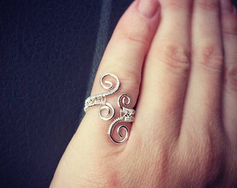 Sterling Silver Ring - Handmade - rings- wire jewelry