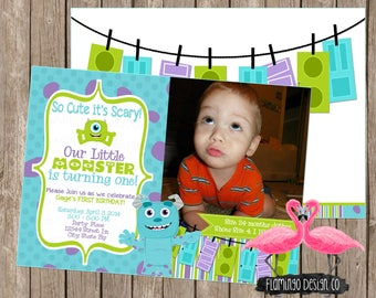 Monsters Inc  Birthday Invite
