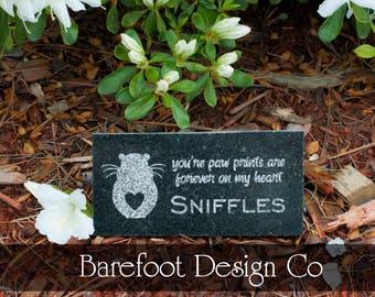 Small 3x6 Granite Personalized Hamster Pet Memorial Stone