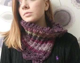 PDF pattern - crochet pattern - neckwarmer pattern - cowl pattern - crochet neckwarmer - crochet cowl - digital pattern