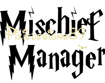 Harry Potter 'Mischief Manager'  - Iron On T-Shirt Transfer – INSTANT DOWNLOAD