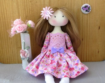 Handmade doll,Fabric doll. Rag Doll,Textile doll,Doll,cloth fabric doll,soft toy for girl,decorative doll,girl gift,gift
