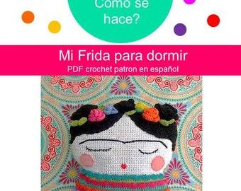 Mi Frida para dormir.  Frida Kahlo Almohadón