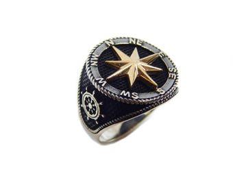 Man compass  ring