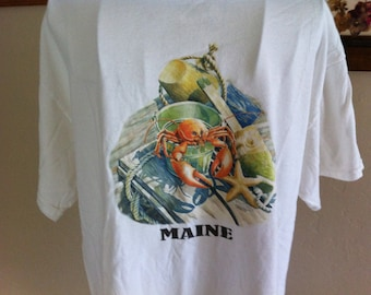 Awesome Vintage Maine Lobster Shirt