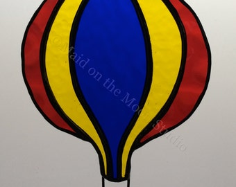 Stained Glass Hot Air Balloon
