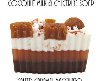 Coconut Milk and Glycerin Soap-Salted Caramel Macchiato