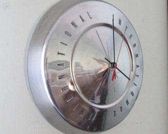 International Truck Hubcap Clock No. 2573