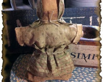 ePattern~Primitive Prairie Doll Tuck Ornie