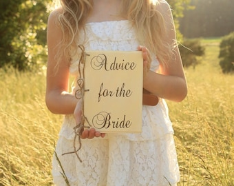 Advice For The Bride Book Advice Book Wood Wedding Planner Book Advice For The Couple