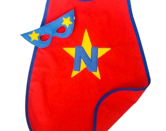 Superhero Cape - Personalised - Superhero Costume - Superhero Party - Custom Cape - Fancy Dress Up -  Girls Cape - Boys Cape - Any Colour