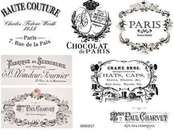 ViNTaGe FRenCh AdVerTiSiNg LaBeLs ShaBby DeCALs #2