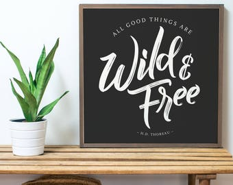 Wild & Free BLACK (2x2)