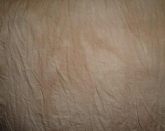 Hand Dyed Cotton Muslin Using Ritz Tan Dye 68 x 33