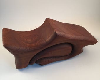 Shark Jewelry Box - Handcrafted Native Redwood