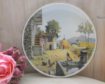french Shabby decorative Limoges China Plate - plate decorative collectible Vintage Limoges porcelain g Labesse Made in France