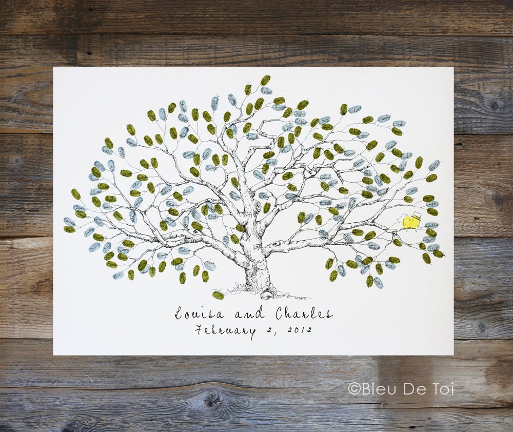 Wedding Guest Book Alternative Fingerprint tree New Size