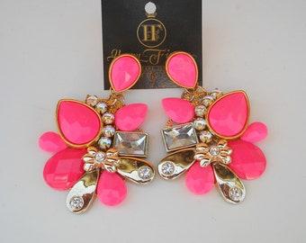 Statement Earrings Chandelier Earrings Prom Earrings Asymmetric Earrings Bib Earrings Rhinestone Earrings Crystal Earrings Gift For Her