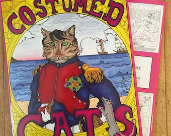 Costumed Cats,  A coloring book collection of great cats in history!
