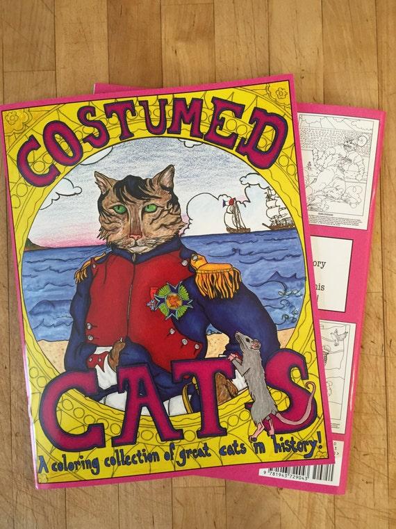 Gatos disfrazados un colorante reserva colección de gatos