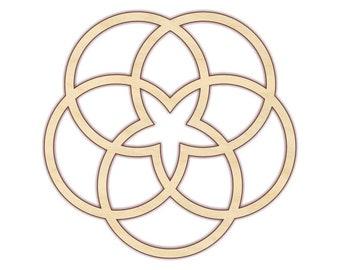 Geometric Circle Design - Unfinished Wood - 170490