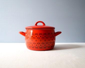 Vintage Kaj Franck Finel - Arabia Kehrä Daisy Enamel Pot