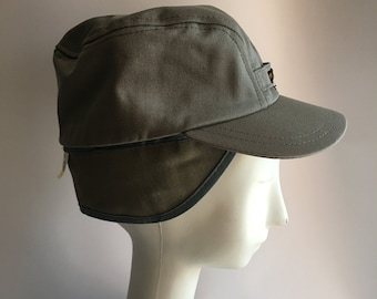 Hat Lee Brand Logo Branded Water Repellant Ski Hat Cap Size 7 Conductor Hat Ski Cap Light Grey Gray New Old Stock Deadstock