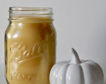 Pumpkin Spice Latte Scented 100% Pure Filtered Beeswax Candle
