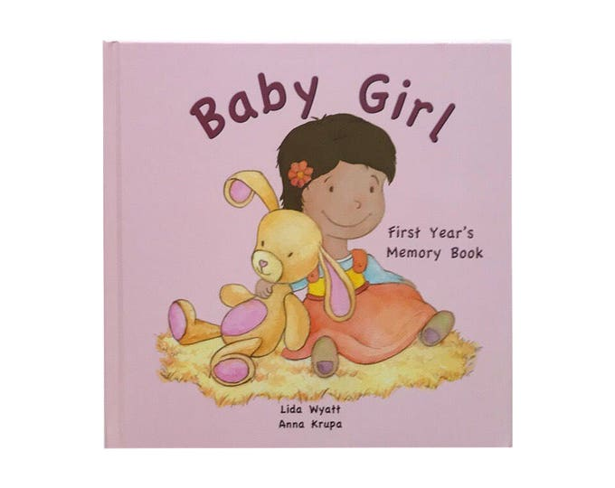Baby Girl  First Year's Memory Book - Dark Hair/Light Skin