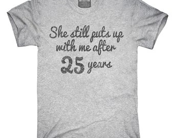 Funny 25th Anniversary T-Shirt, Hoodie, Tank Top, Gifts