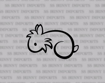 Simple lionhead rabbit decal; bunny car sticker/ laptop sticker/ phone sticker, glossy black