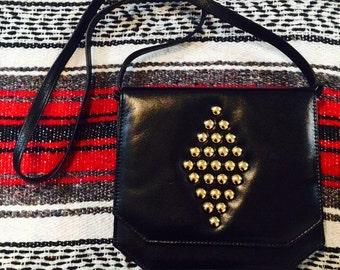 Vintage Black and Gold Studded Purse