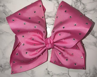 Pink crystal bow