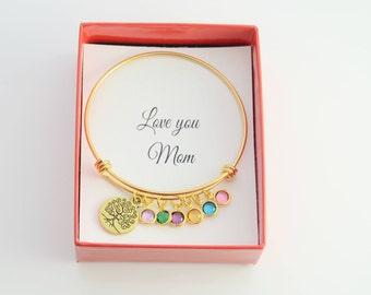 Mom Bracelet Birthstone, Mother Bracelet, Grandma Bracelet, Mom Birthday Gift, Mom Bracelet, Mom Gift From Daughter, Gift For Mom