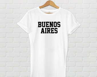Buenos Aires Varsity Style T-Shirt - White