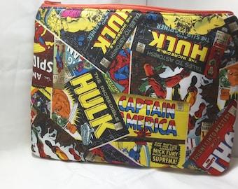 marvel bag, superheroes purse, marvel clutch