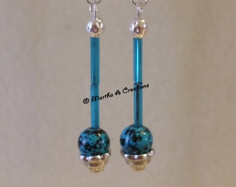 Turquoise & Silver Pierced Earrings