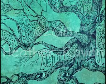 Tree of Knowledge 4x4 and 8x8 Digital Art Prints